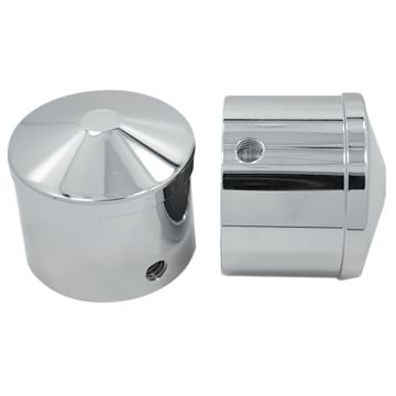 Chrome Smooth Front Axle Nut Covers for 2008-2013 Harley-Davidson Touring Models