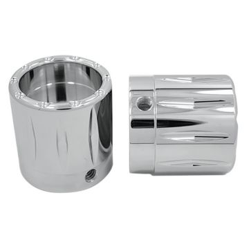 RC Components Chrome Rival Front Axle Nut Covers for 2000-2007 Harley-Davidson Touring Models