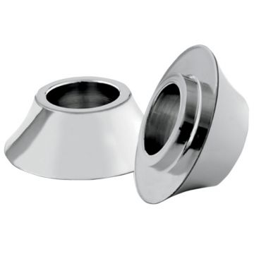 RC Components Chrome Tapered Front Axle Wheel Spacers for 2008 & Newer Harley-Davidson Touring models without ABS Brakes