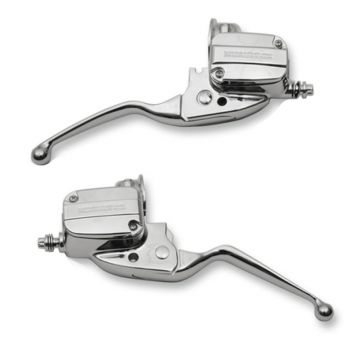 Chrome Handlebar Control set for 2014-2016 Harley-Davidson Touring models with Hydraulic Clutch