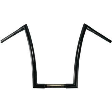 "1 1/4"" TODDS Cycle Strip Handlebars 17 inch Gloss Black"