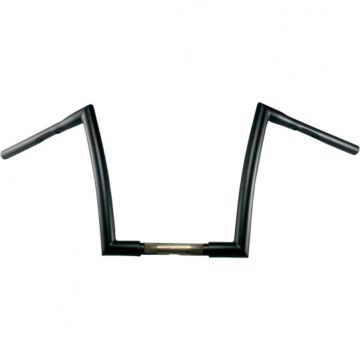 "1 1/4"" TODDS Cycle Strip Handlebars 17 inch Flat Black"