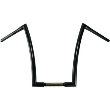 "1 1/4"" TODDS Cycle Strip Handlebars 10 inch Gloss Black"