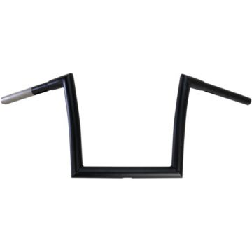 "1 1/4"" TODDS Cycle Strip Fat Bobber Handlebars 10 inch Flat Black"