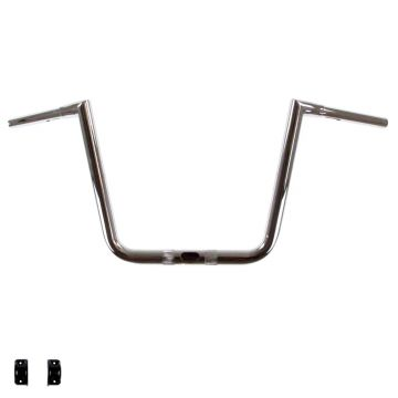 "LA Chopper 1 1/4"" Hefty Twin Peaks Chrome 13 inch Ape Hanger Handlebars for Harley-Davidson Road Glide models"