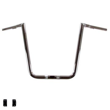 "LA Chopper 1 1/4"" Hefty Twin Peaks Chrome 16 inch Ape Hanger Handlebars for Harley-Davidson Road Glide models"