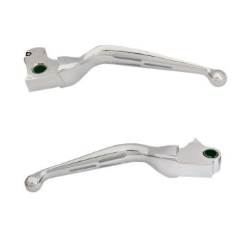 Chrome Slotted Wide Blade Levers for 2014-2016 Harley-Davidson Tri Glide and Freewheeler models