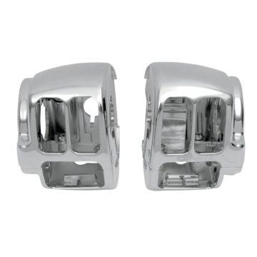 Chrome Handlebar Switch Housings for 2011-2015 Harley-Davidson Softail models