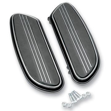 Black Streamliner Styled Front Floor Board Kit for 1997 & Newer Harley-Davidson Softail &Touring models