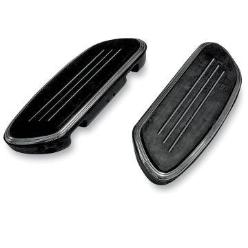 Black Streamliner Styled Passenger Floor Boards for 1997 & Newer Harley-Davidson Softail & Touring models