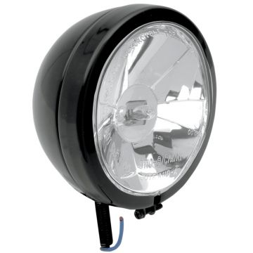 "Gloss Black 4 1/2"" Diamond Styled Spotlight for 1997-2013 Harley-Davidson Touring models"
