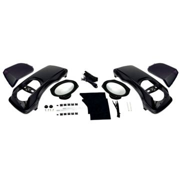 "Hogtunes 6""x9"" Saddlebag Lid Speaker Kit with speakers for 1998-2013 Harley-Davidson Touring models"