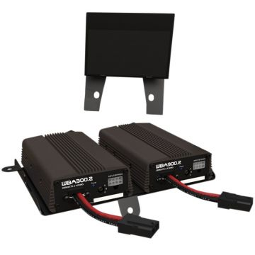 Wild Boar Audio 600 Watt 4 Channel 4 Ohm Dual Amplifier Kit for 2014 and newer Harley-Davidson Street Glide, Ultra Classic, Limited, and Trike models