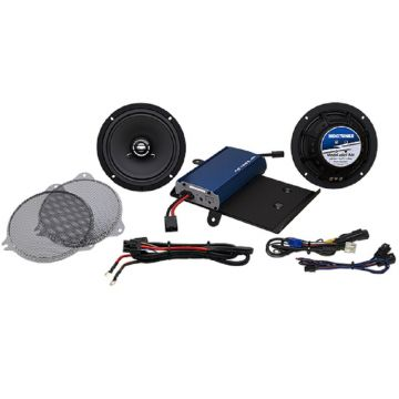 Hogtunes 225 Watt 2 Speaker Amplifier Kit for 2014 and newer Harley-Davidson Ultra, Limited, Street Glide and Trike models