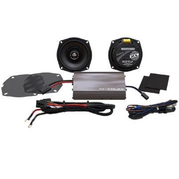 Hogtunes 225 Watt 2 Speaker Amplifier Kit for 1999-2013 Harley-Davidson Street Glide, Ultra and Trike models