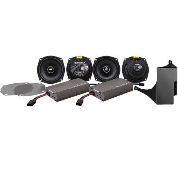 Hogtunes 450 Watt 4 Speaker Amplifier Kit for 1999-2013 Harley-Davidson Ultra, Limited and Trike models