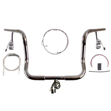 Build Your Own Custom Street Glide, Electra Glide, and Ultra Classic 2014-2021 PREWIRED Ape Hangers Handlebar DIY kit