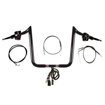 """1 1/4"""" BBlack 16"""" PrimeApe Handlebar CKit 2007-2010 Harley-Davidson Softail"""