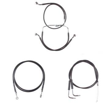 Black Vinyl Coated Cable & Line Bsc Kit for 2009-2010 Harley-Davidson Dyna Fat Bob CVO