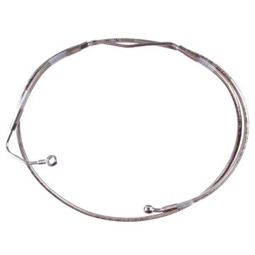 """+8"""" Over Stock Front Stainless Braided Upper ABS Brake Line for 2009-2013 Harley-Davidson Touring models with ABS brakes"""