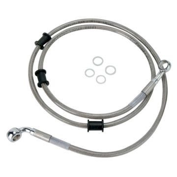 """+10"""" Over Stock Front Stainless Braided Brake Line for 2009-2015 Harley-Davidson Softail Heritage Classic models"""