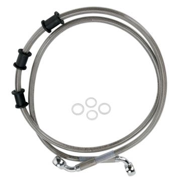 """+10"""" Over Stock Front Stainless Braided Brake Line for 2008-2015 Harley Softail Deluxe & 2012-2015 Slim, Fatboy, Fatboy Low models"""