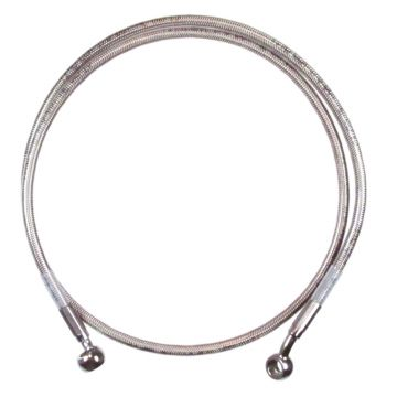 """Front +4"""" Single Disc Stainless Braid Brake Line 1997-2013 Harley-Davidson Touring without ABS brakes"""