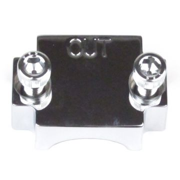 Front Chrome Smooth Flush Mount Axle End Cap for 2000-2013 Harley-Davidson Touring models