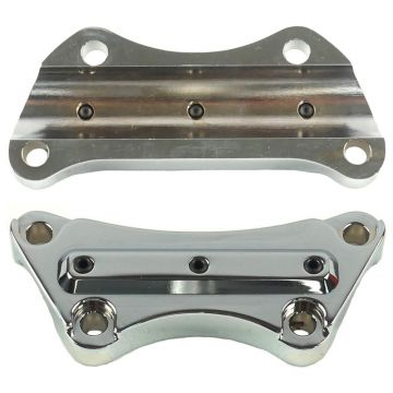 Hill Country Customs Chrome Gorilla Grabber Handlebar Riser Top Clamp for most 1990 and newer Harley-Davidson Dyna Softail and Sportster models