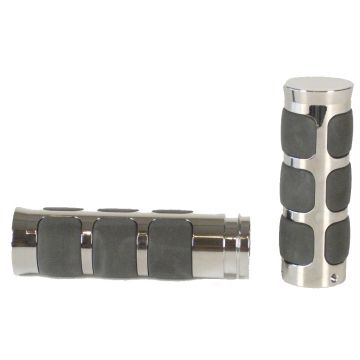 Chrome Comfort Band Style Grips for 2008 & Newer Harley-Davidson Touring models