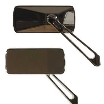 Rectangular Mirrors with Straight Cut-Out Stems for Harley-Davidson models