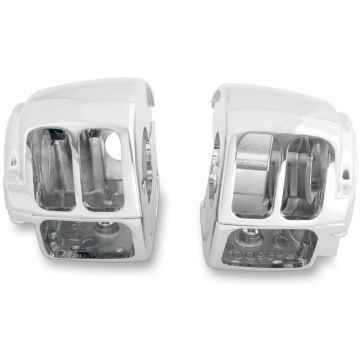 Chrome Handlebar Switch Housings for 1996-2013 Harley-Davidson Dyna and Softail models