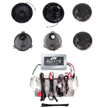 J&M Audio XXR 4 Speaker and 800 Watt Rokker Amp Kit for 2014 and Newer Harley-Davidson Street Glide models with Vented Lowers