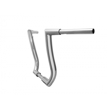 HCC 1 1/2 inch Hell Bent Bagger Ape 18 inch Ape Hanger Chrome for 2013 and Older Harley Davidson Motorcycles