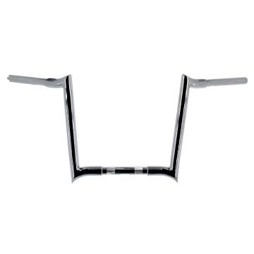 "HCC 1 1/4"" Chrome 14"" Hooker Handlebars for Harley Davidson Motorcycles"