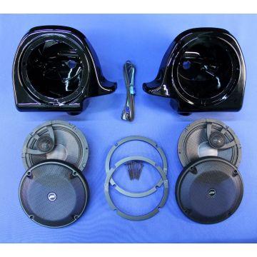 "J&M Audio 6.58"" Lower Fairing Speaker kit 2006-2013 Harley-Davidson models with Vented Lowers"