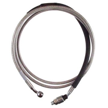 """Stainless Braided +12"""" Hydraulic Clutch Line for 2017 & Newer Harley-Davidson Touring models"""