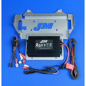 J&M Audio 400 Watt 2 Channel Amp Kit for 2014 and newer Harley-Davidson Street Glide Ultra Trike models