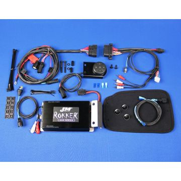 J&M Audio 400 Watt 2 Channel Bluetooth Amp Kit for 1998 and newer Harley-Davidson Road King models