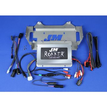 J&M Audio XXRP 800 Watt 4 Channel Amp Kit for 2014 and Newer Harley-Davidson Street Glide models