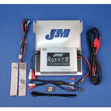 J&M Rokker 200 Watt, 2 Channel Amp kit 2006-2013 Harley-Davidson Street Glide, Ultra Limited, Trike models