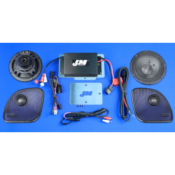 J&M Audio Performance 2 Speaker and 200 Watt Amplifier Kit for 2015 and Newer Harley-Davidson Road Glide models