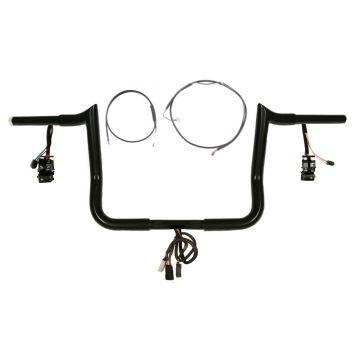 "1 1/4"" BBlack 10"" Prewired Yaffe Kit 2008-2013 Harley Electra Glide w/Cruiz &ABS"