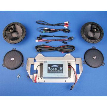 "J&M Rokker 200 Watt, 2 Channel Amp, 6.58"" Fairing Speaker kit 2014 and Newer Harley-Davidson Street Glide, Ultra Limited, Trike models"