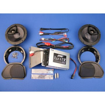 """J&M Rokker 200 Watt, 2 Channel Amp, 6.58"""" Fairing Speaker kit 2006-2013 Harley-Davidson Road Glide models"""