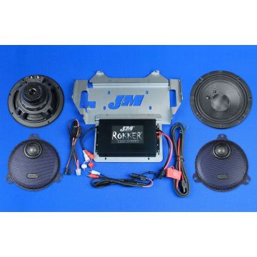 J&M Audio STAGE 5 Extreme 2 Speaker and 400 Watt Amp Kit for 2014 and newer Harley-Davidson Street Glide