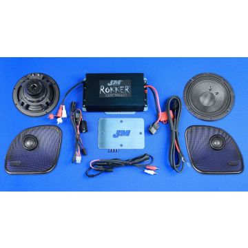 J&M Audio STAGE 5 Extreme 2 Speaker and 400 Watt Amp Kit for 2015 and newer Harley-Davidson Road Glide models
