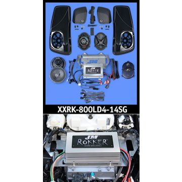J&M Audio XXR STAGE 5 Extreme 4 Speaker 800 Watt Amp and Lid Kit for 2014 and newer Harley Street Glide models