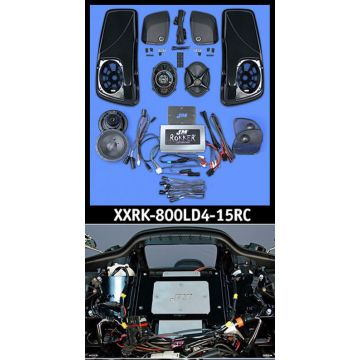 J&M Audio XXR Extreme 4 Speaker 800 Watt Amp and Lid Kit for 2015 and newer Harley Road Glide models