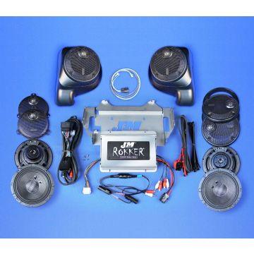 J&M Audio XXR Extreme 6 Speaker 800 Watt Amp Kit for 2014 and newer Harley-Davidson Ultra, Limited models